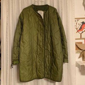 Vintage military quilted liner jacket